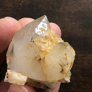 Wild Twin Cathedral Quartz Crystal Point w/ Natural Aura