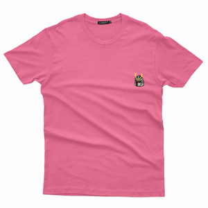 Samurai Embroidered T-Shirt (Pink)
