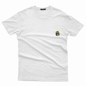 Samurai Embroidered T-Shirt (White)