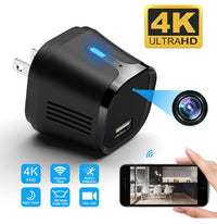 4k FHD USB Charger Wifi IP Camera w/ Motion Detection & Remote Viewing