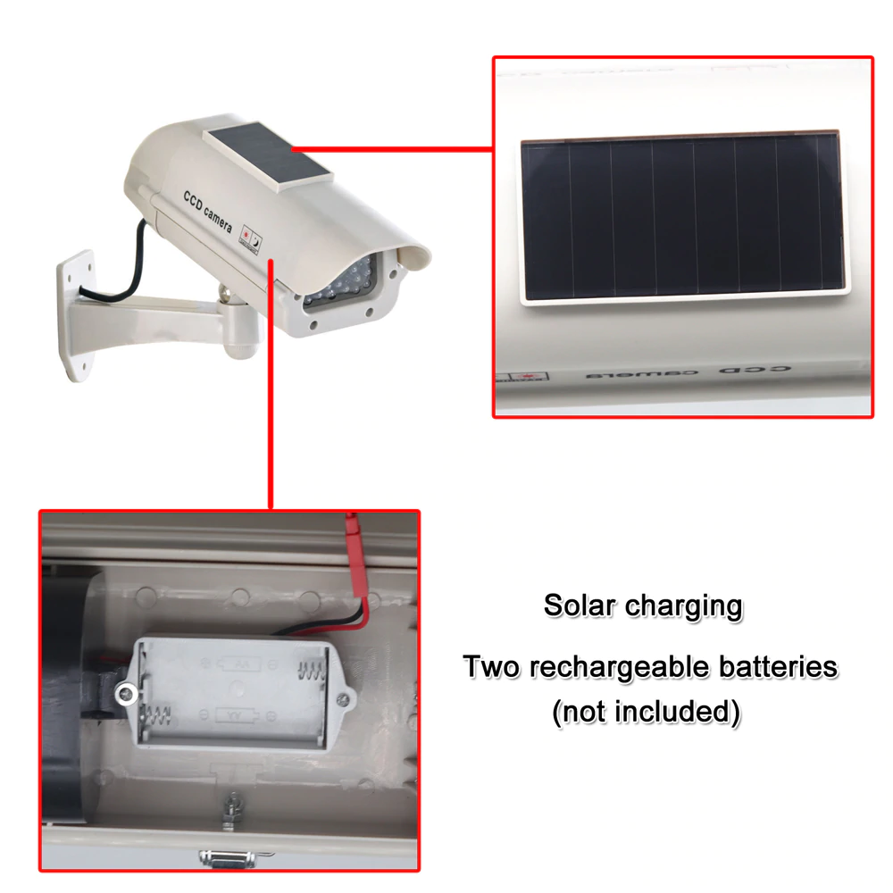 Fake CCTV Solar Powered Camera