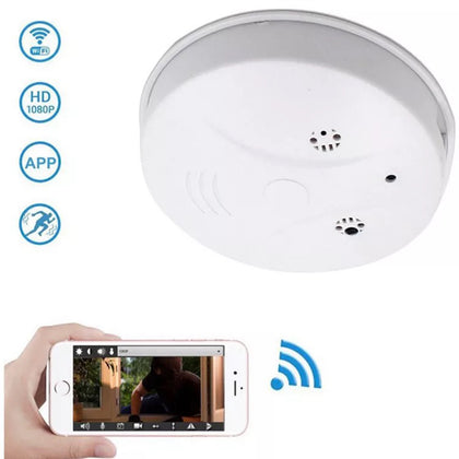 HD WiFi Smoke Detector Spy Camera - SpyTechStop