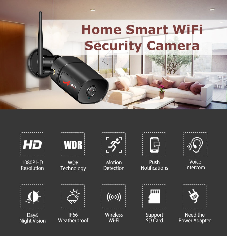1080P Wifi Outdoor Security HD Camera - SpyTechStop