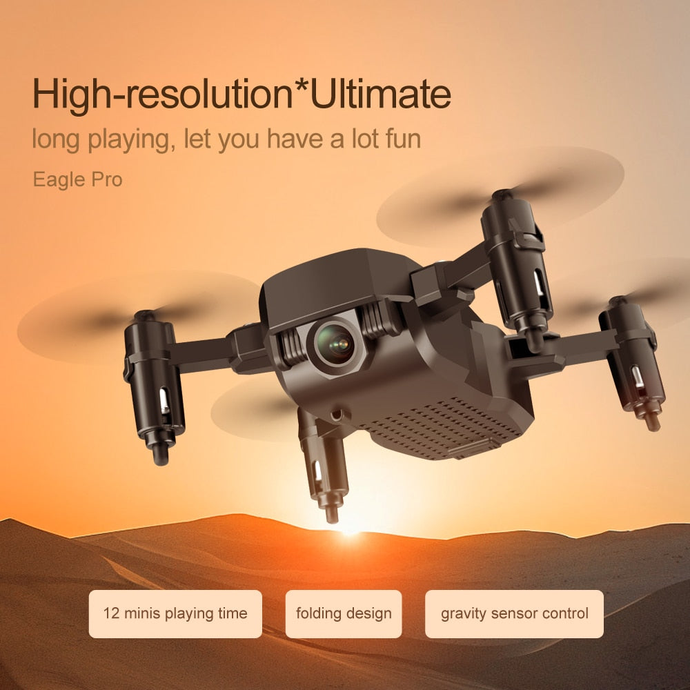 Foldable Mini Drone With RC Quadrocopter With Camera HD