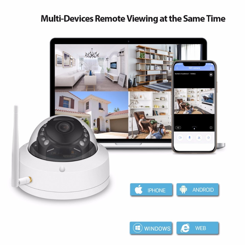 5MP Metal Vandalproof Outdoor Dome Camera