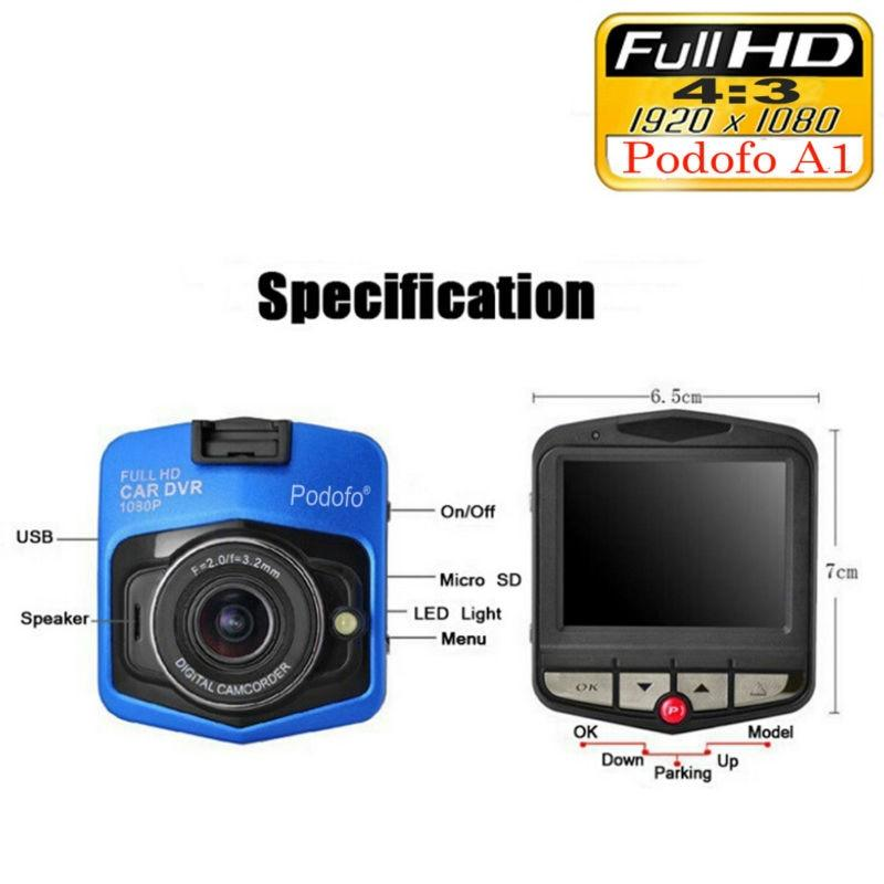 Podofo A1 Mini Car Dashcam (DVR, Full HD, 1080P)