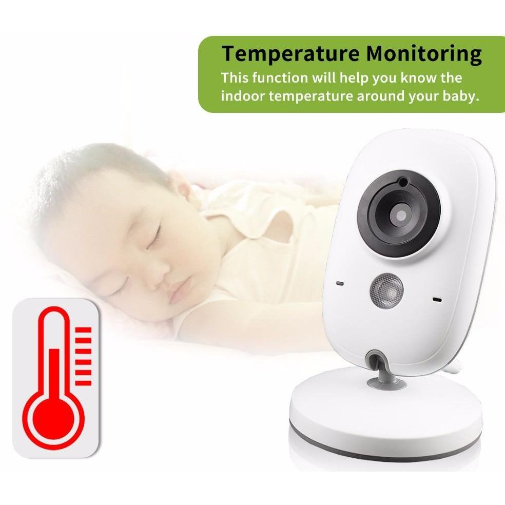 "3.2"" Wireless Video Baby Monitor Temperature Monitoring"