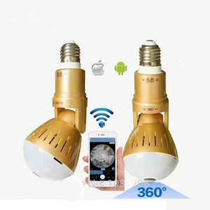 Wifi Panoramic Bulb Hidden Camera