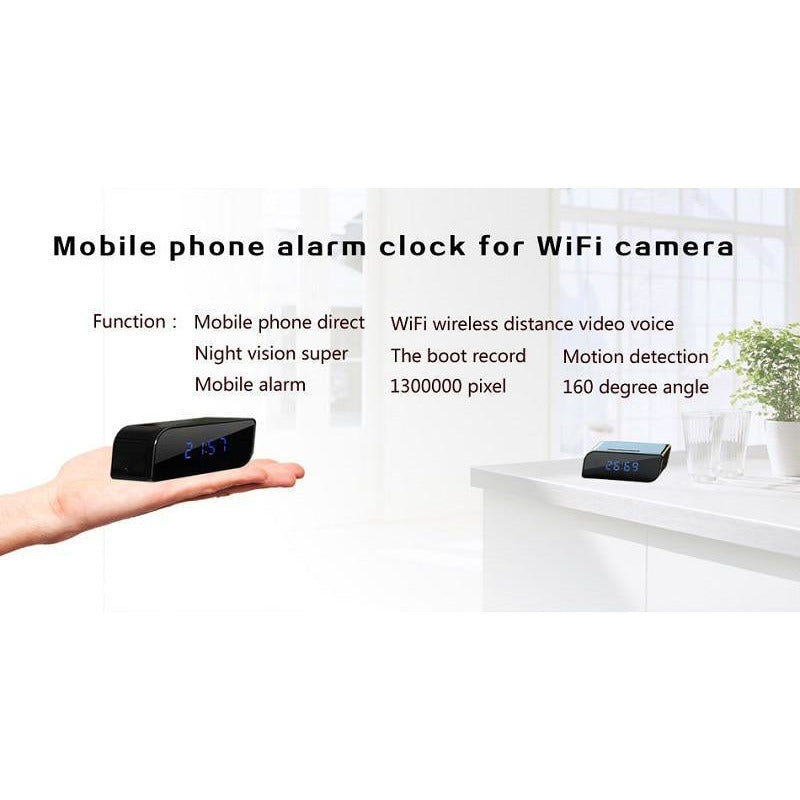 1080P Wifi Camera Mini Clock - SpyTechStop