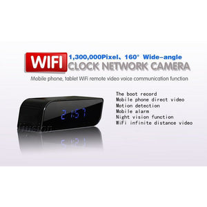 Micro Wifi IP Camera HD 1080P Clock Mini - Spy Solutions