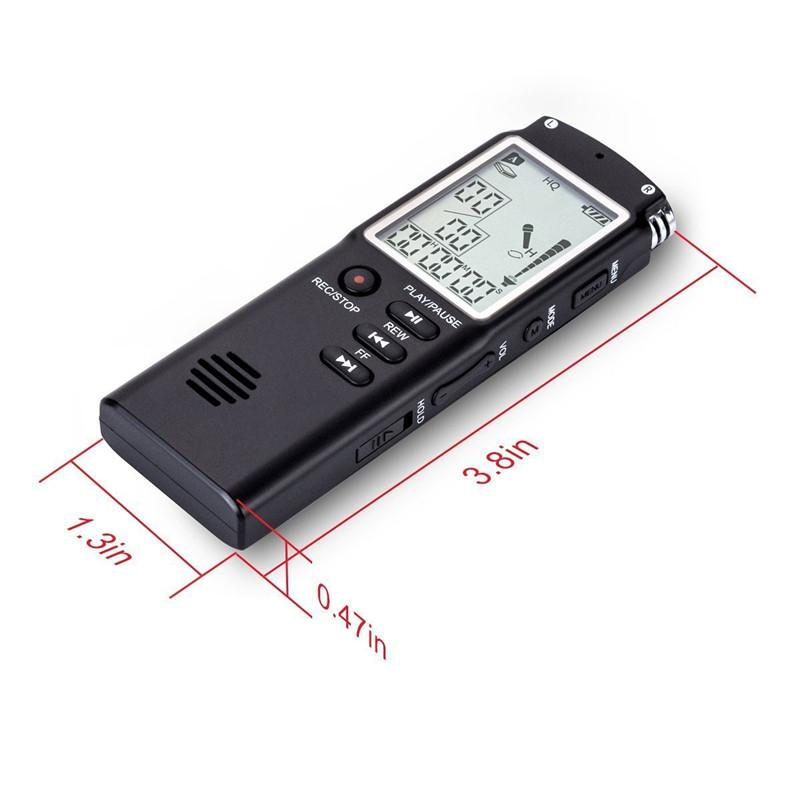 Digital Voice Dictaphone - 8GB/16GB/32GB