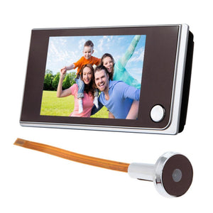 3.5 inch LCD Color 120 Degree Peephole Camera - Spy Solutions