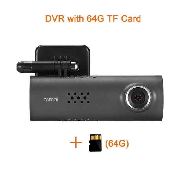 1080P Xiaomi WIFI Dash Cam (70 Minutes, DVR, Wireless, 130 Degree, 30fps)