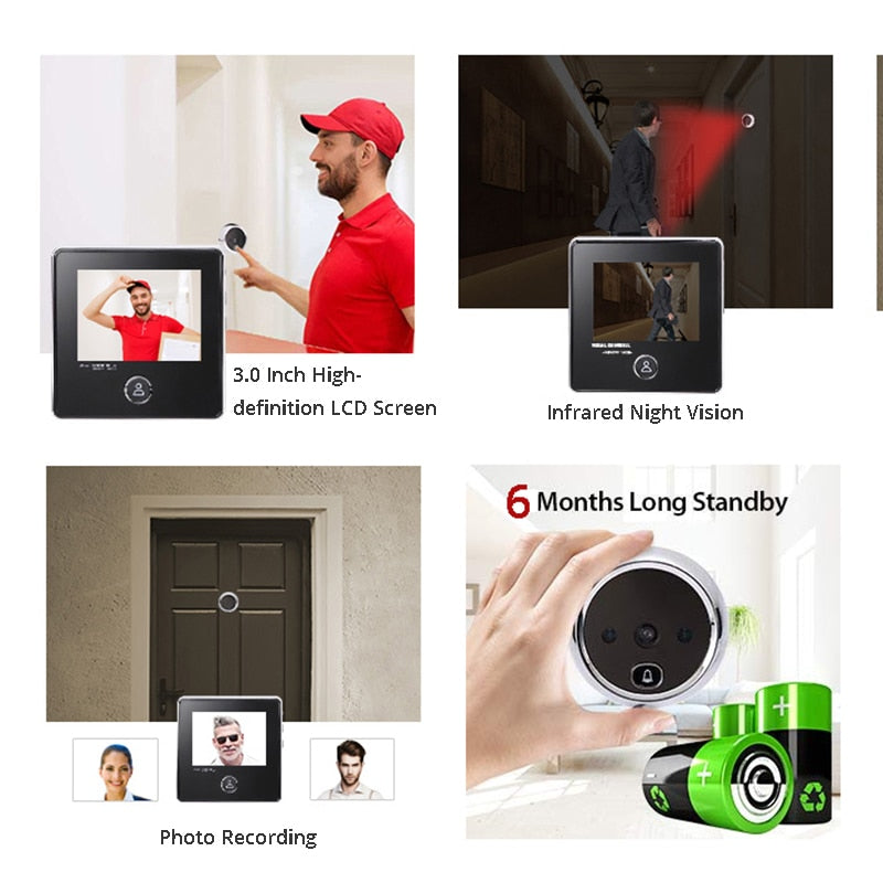 "3.0"" LCD Screen Electronic Peephole"