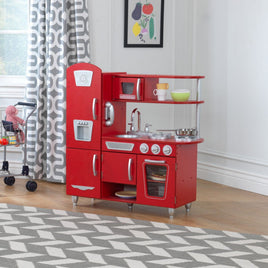 Vintage Play Kitchen - Red
