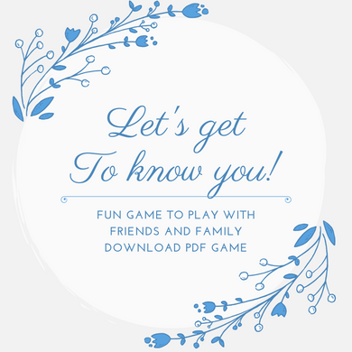 Let's get to know you! - Game (Download Pdf)