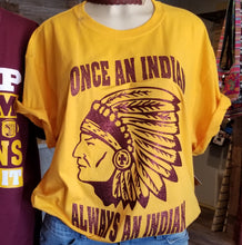 Yellow Indian tshirt with gold glitter