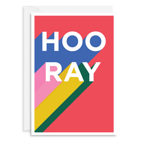 Rainbow Hooray Card