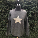Cashmere and Merino Glitter Star Jumper