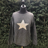 Cashmere and Merino Glitter Star Jumper - Seaton Gifts