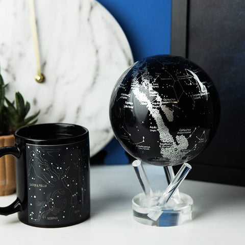 "4.5"" Mova Globe Silver Constellations  - The World's Most Advanced Globe."