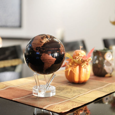 "4.5"" Mova Globe Modern (Copper/Black) - Seaton Gifts"