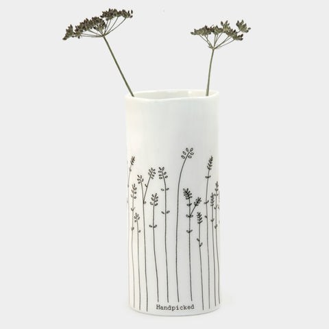 "Medium Porcelain Vase - ""Handpicked"""