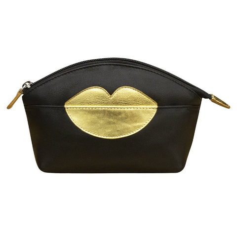Hot Lips Leather Make-Up Bags