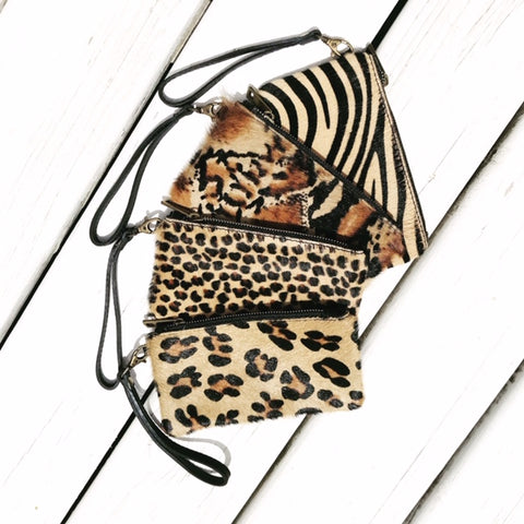 Animal Print Clutch Bags - Seaton Gifts