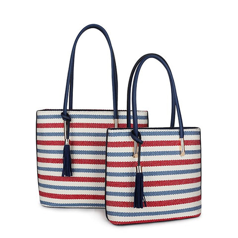 """Sophia"" Woven Tote Bag - Seaton Gifts"