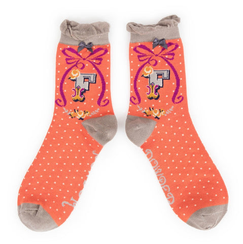 "Alphabet Socks - ""F"" - Seaton Gifts"