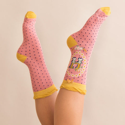 "Alphabet Socks - ""H"" - Seaton Gifts"