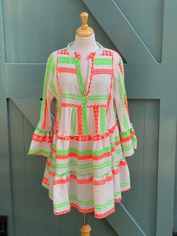 Zara - Neon Aztec Dress