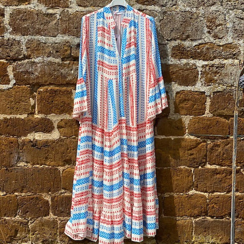 Printed Long Aztec Dress