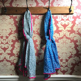 Dotty Scarf with Fuchsia Fringe - 100% Cotton