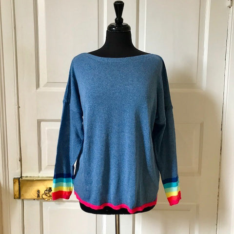 Rainbow Cuff Cotton Jumpers - Seaton Gifts