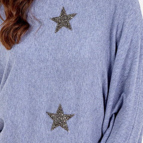 Holly - Sparkle Batwing Jumper