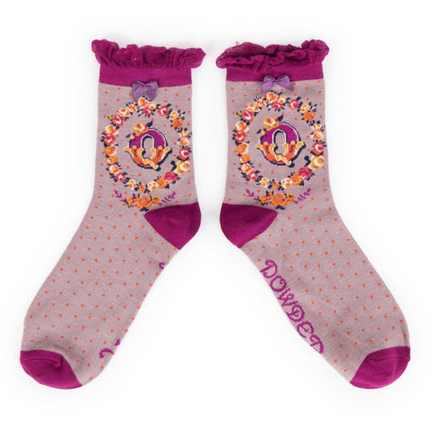 "Alphabet Socks - ""Q"" - Seaton Gifts"