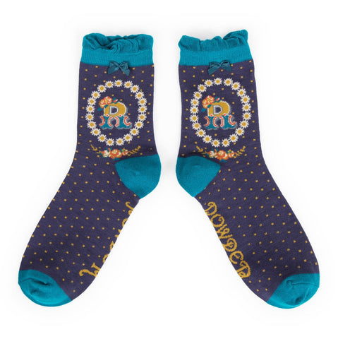 "Alphabet Socks - ""R"" - Seaton Gifts"