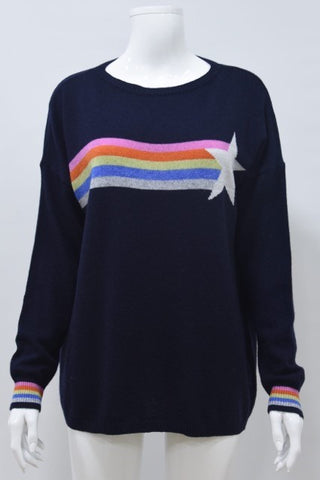 Rainbow Glitter Star Jumper