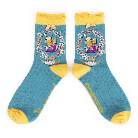 "Alphabet Socks - ""S"" - Seaton Gifts"