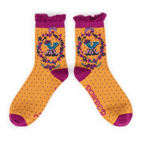 "Alphabet Socks - ""X"" - Seaton Gifts"
