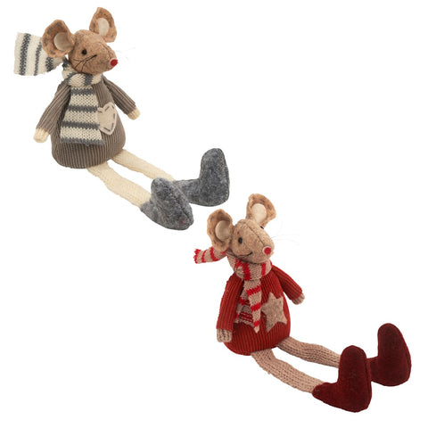 Mouse With Scarf And Dangly Legs