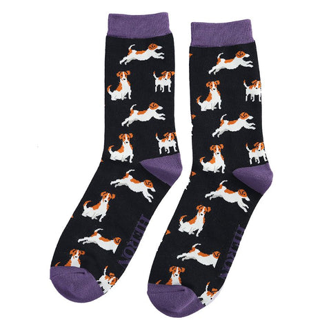 Miss Sparrow Jack Russells Socks Black