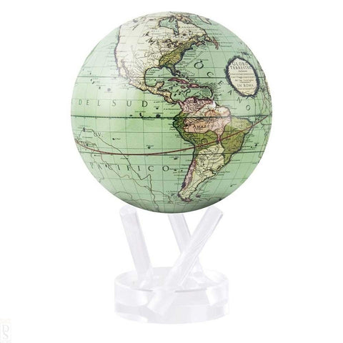 "6"" Mova Globe Antique Cassini (Terrestrial Green) - Seaton Gifts"
