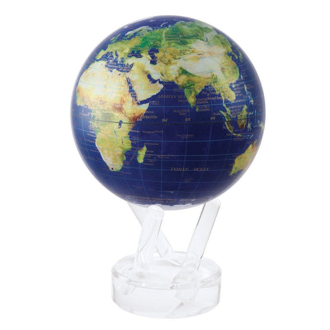 "4.5"" Mova Globe Satellite View with Gold Lettering"