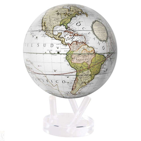 "8.5"" Mova Globe Antique Cassini (Terrestrial White) - Seaton Gifts"