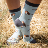 Miss Sparrow Robins Socks Duck Egg