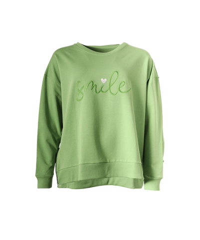"""Smile"" Zip Sweatshirt"