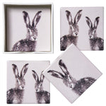 Hare Coasters - Ceramic Set of 4